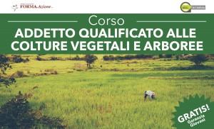 Corso Addetto qualificato alle colture vegetali e arboree